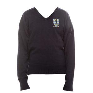 Pershore High Girls V-Neck Sweatshirt