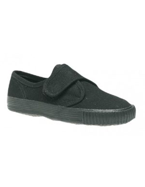 DEK Junior Velcro Fatening Black Plimsolls