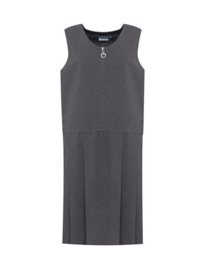 Banner Lynton Grey Pleated Pinafore