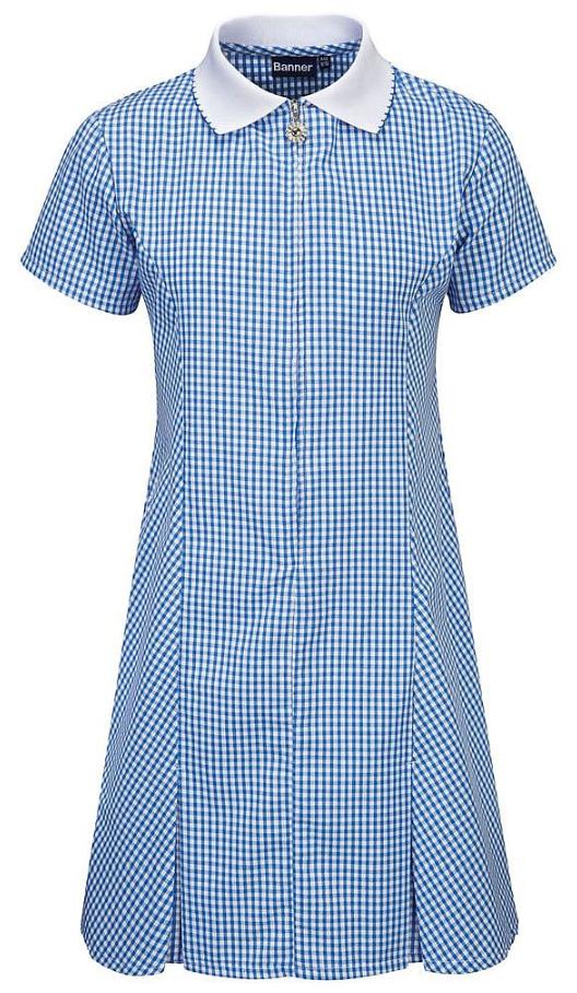 Banner Avon Blue Gingham Summer Dress