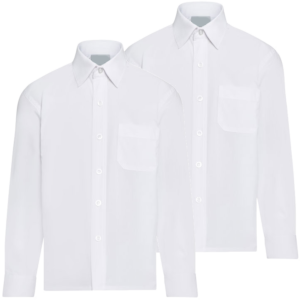 Twin Pack Boys Long Sleeve Shirts White