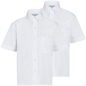 Twin Pack Boys Short Sleeve Shirts White