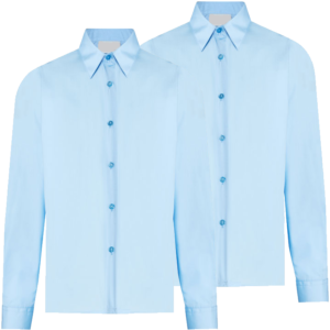 Twin Pack Girls Long Sleeve Blouse Blue
