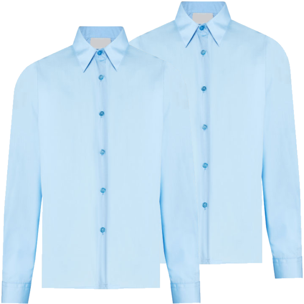 Twin Pack Girls Long Sleeve Blouse Blue