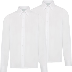 Twin Pack Girls Long Sleeve Blouse White