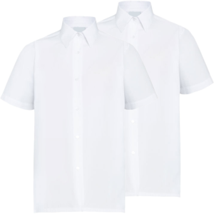 Twin Pack Girls Short Sleeve Blouse White