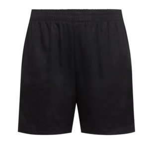Classic Sport Short Black (Brushed Polycotton)