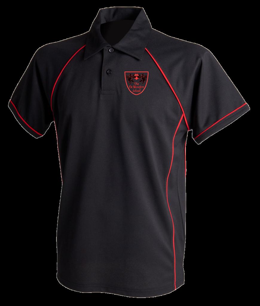 The De Montford School GCSE Black Sports Polo
