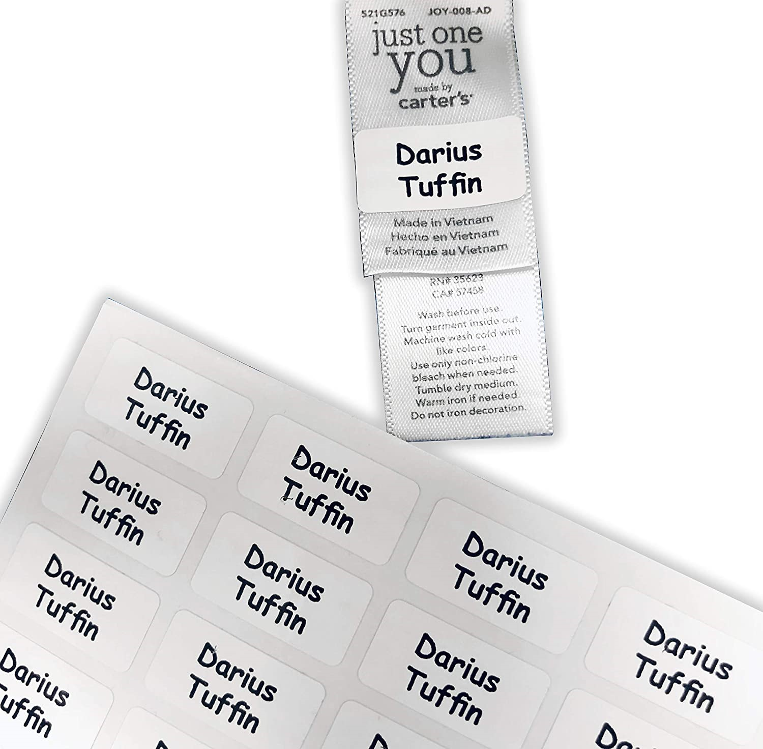 Stick & Wash Name Labels - 60 Pack